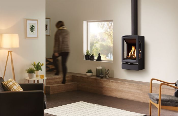 Stovax & Gazco Vogue Midi T wall mounted gas stove