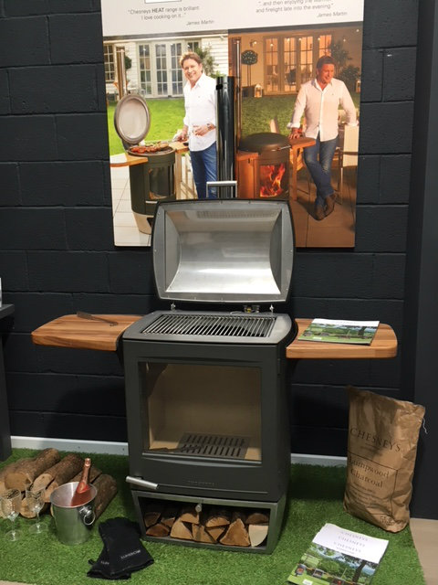 Chesney HEAT 500 BBQ heater now in showroom inside display