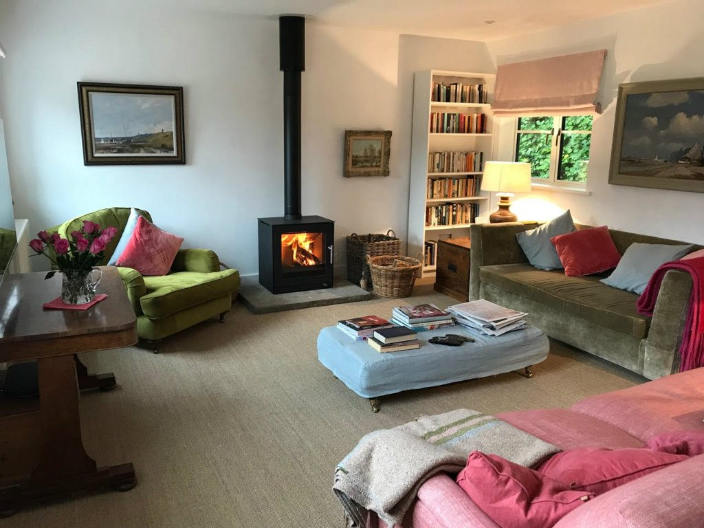 Rais Q-Tee 2 wood-burning stove, Wadhurst, East Sussex, after