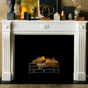 Chesneys Deauville fireplace with Aberdeen fire basket