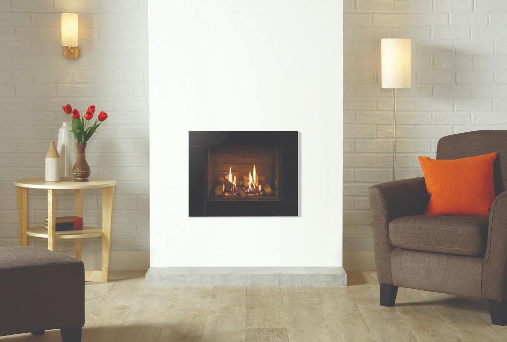 Stovax & Gazco Riva2 500 Icon XS gas fire with ledgestone lining