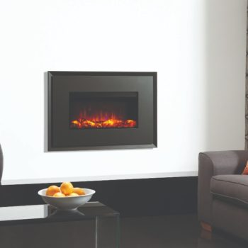 Stovax & Gazco Riva2 670 Evoke graphite steel electric fire with graphite rear