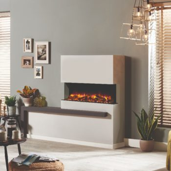Stovax & Gazco Skope Outset 110W log & pebble fuel effect electric fire
