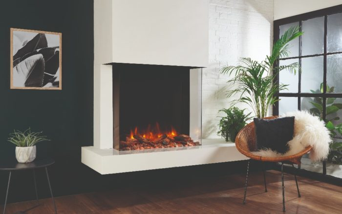 Stovax & Gazco Skope Outset 75W log & pebble fuel effect electric fire