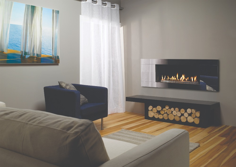 Stovax & Gazco Studio 2 gas fire Glass frame and white stone effect