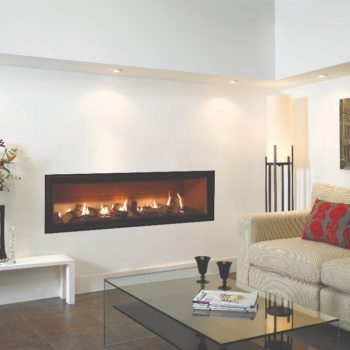 Stovax & Gazco Studio 3 gas fire Edge frame, log effect and vermiculite lining