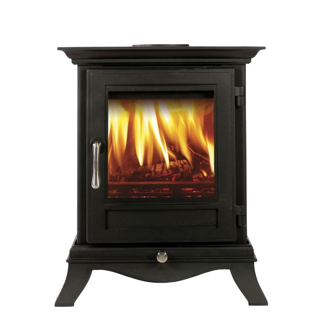 Chesneys Beaumont 4 series wood burning stove in black anthracite