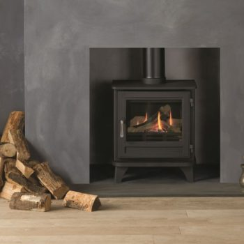Chesneys Salisbury standard gas stove with a matt black finish