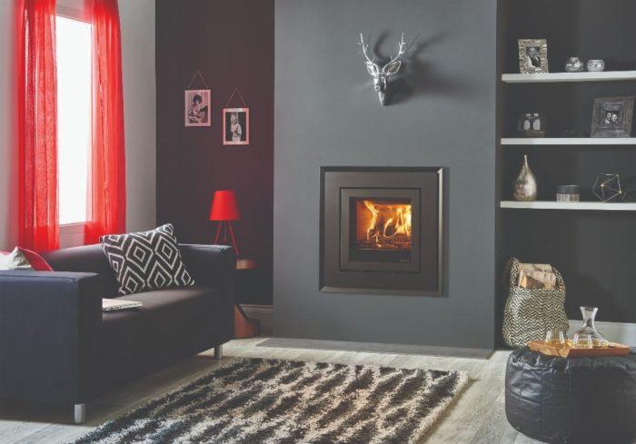 Stovax & Gazco Elise Evoke Steel 540 wood burning stove