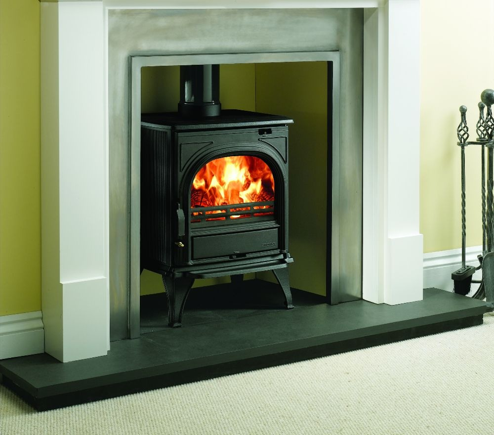 Stovax & Gazco Huntingdon 25 wood burning stove with clear door