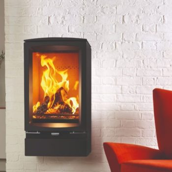 Stovax & Gazco Vogue Midi T wood burning stove wall hung