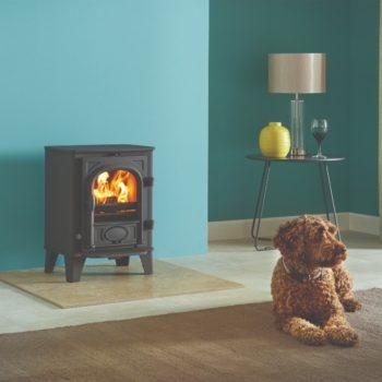 Stovax & Gazco Stockton 3 wood burning stove in matt black