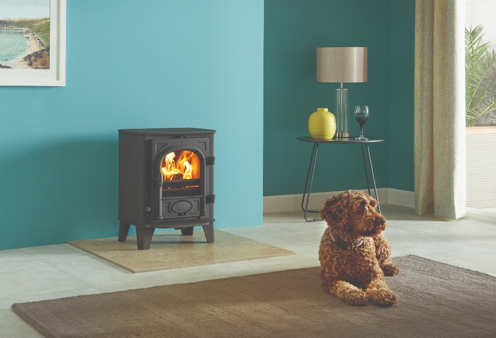 Stovax & Gazco Stockton 3 wood burning stove in matt black