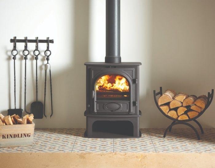 Stovax & Gazco Stockton 5 Midline wood burning stove in matt black