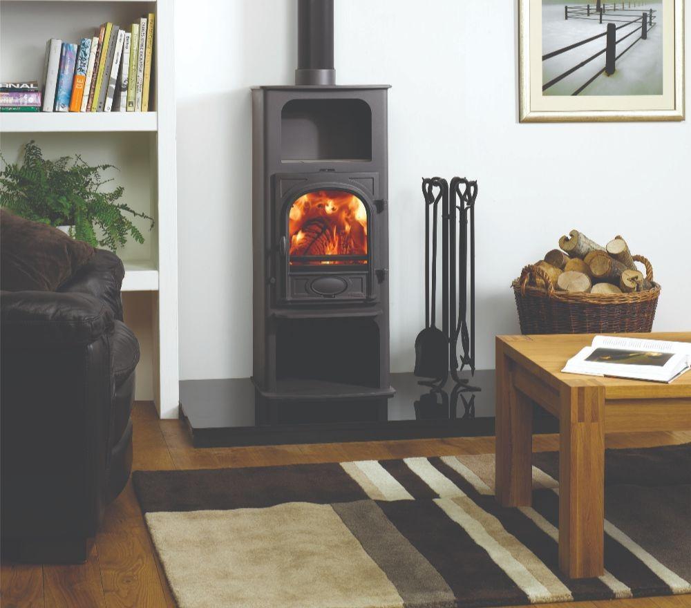 Stovax & Gazco Stockton 6 Highline wood burning stove in matt black