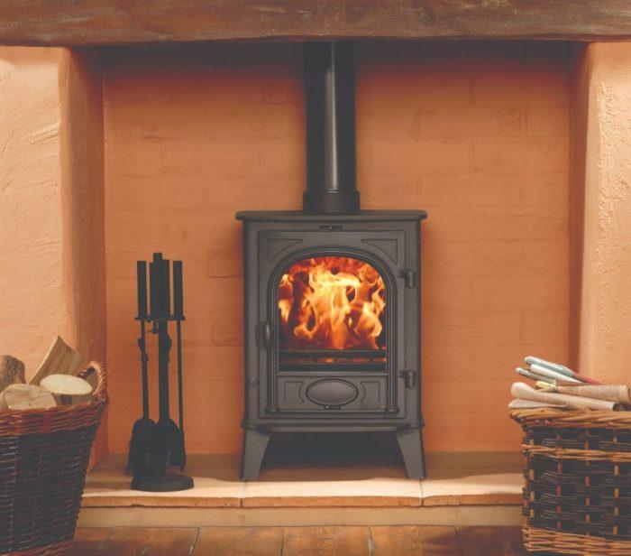 Stovax & Gazco Stockton 6 wood burning stove in matt black