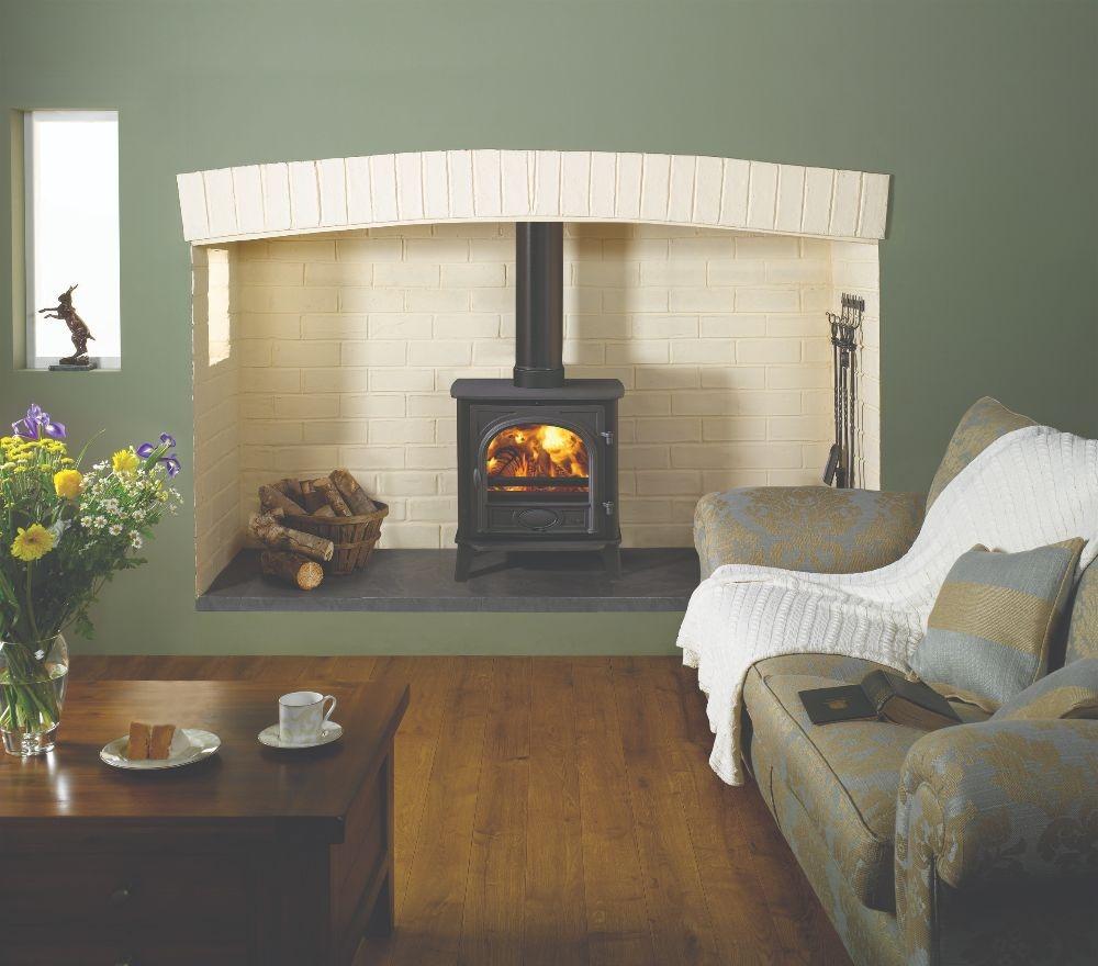 Stovax & Gazco Stockton 7 wood burning stove in matt black