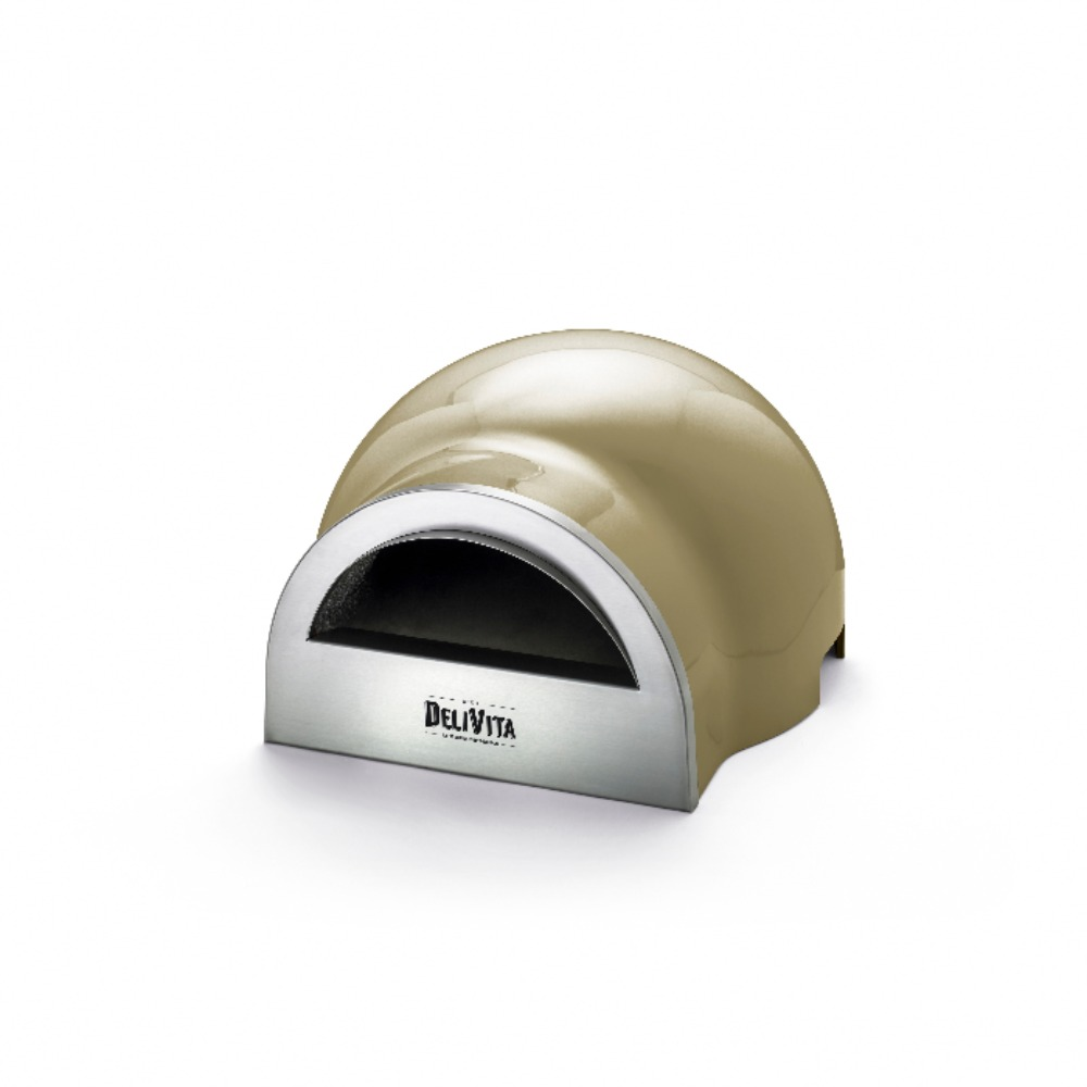 Delivita wood-fired pizza oven in Olive Green