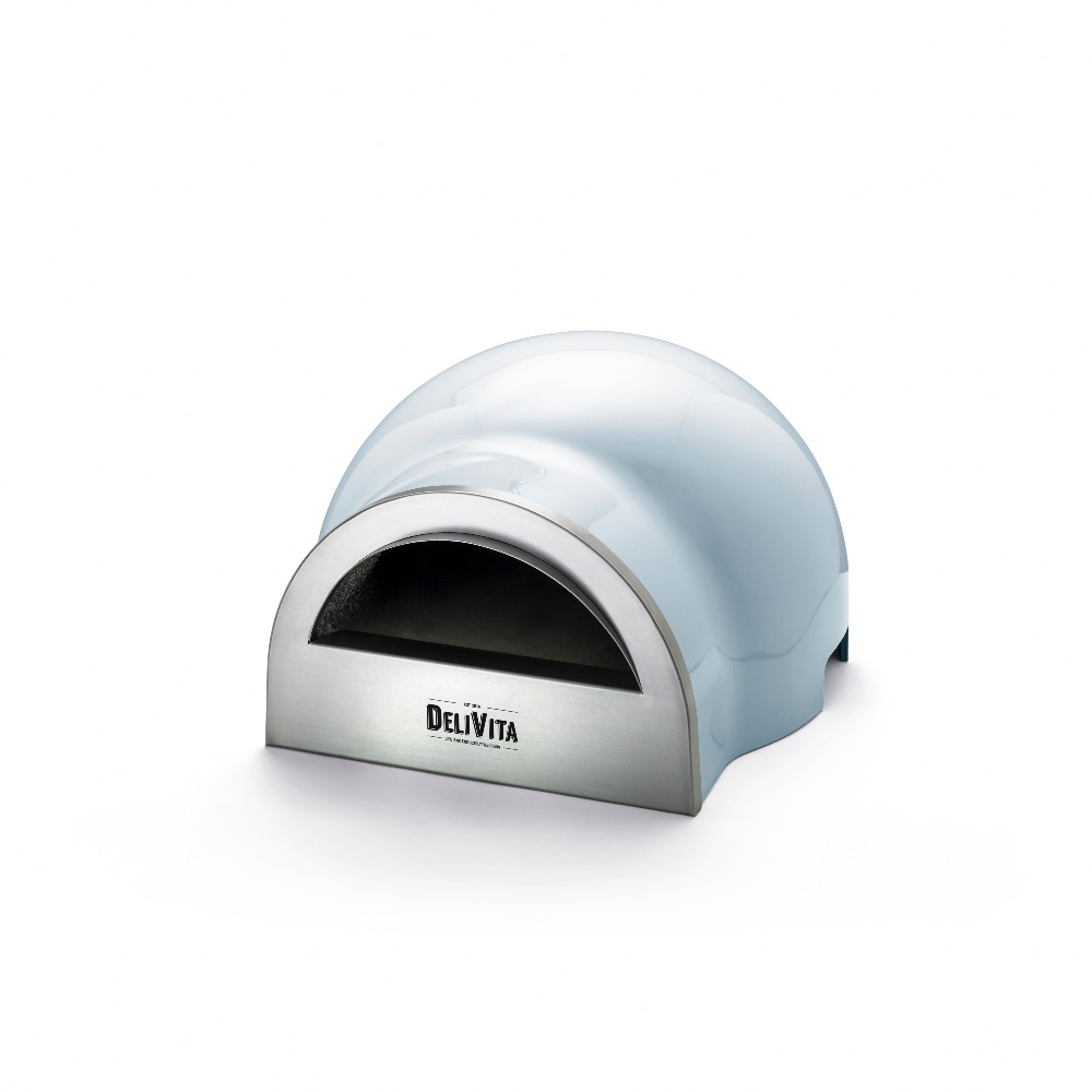 Delivita wood-fired pizza oven in Vintage Blue