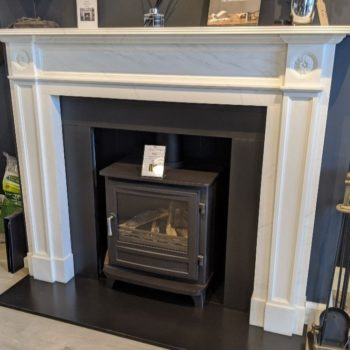 Chesneys Langley fireplace with the Salisbury gas stove (large) in showroom