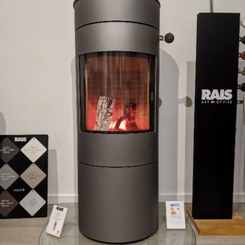 RAIS Viva L 120 wood burning stove in showroom