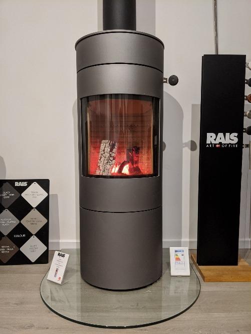 RAIS Viva L 120 wood burning stove in showroom