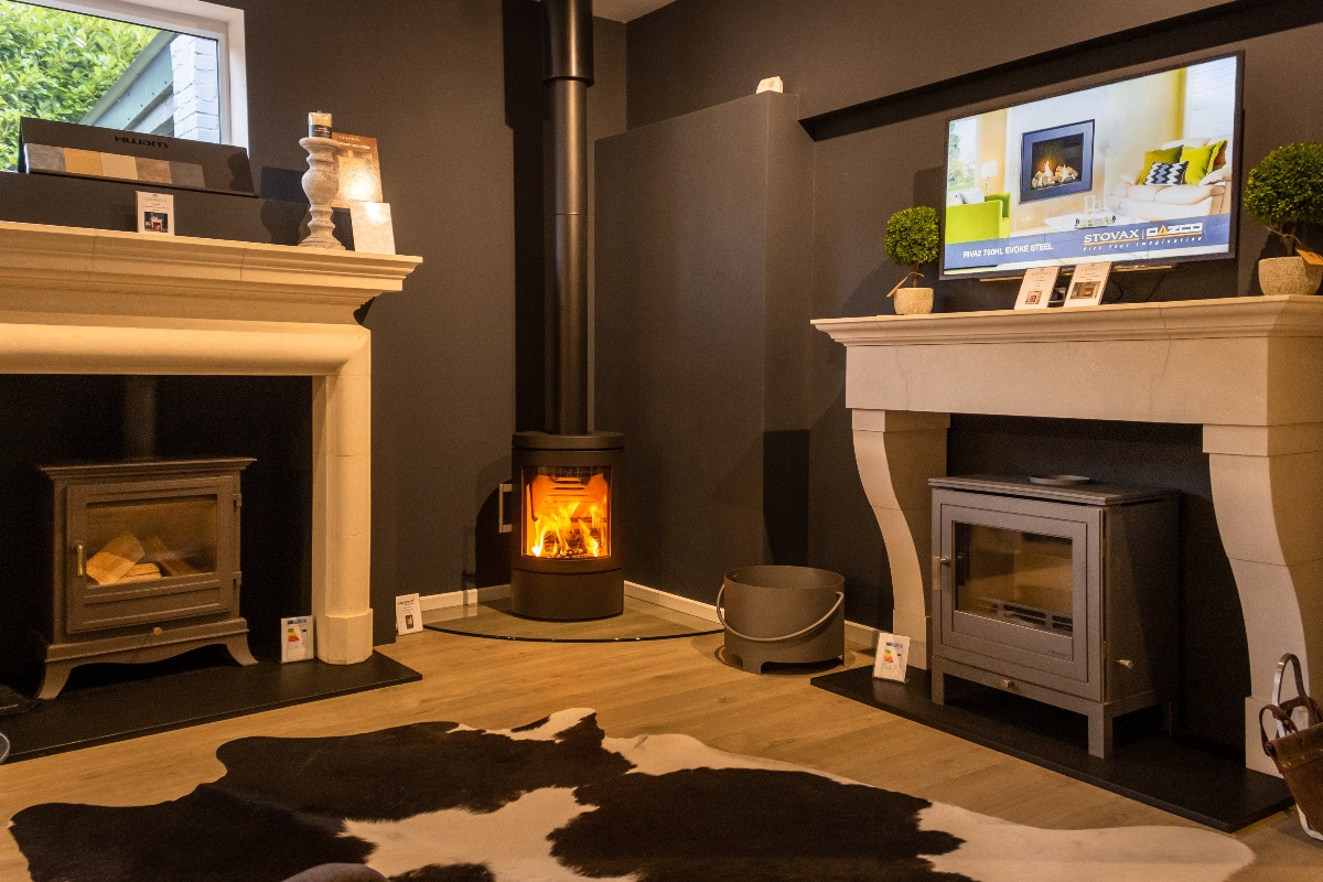 The Fireplace Company Crowborough showroom interior back room 4