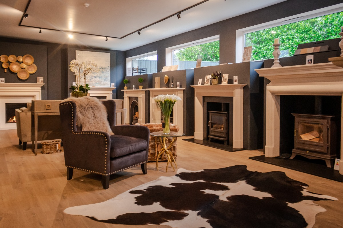 The Fireplace Company Crowborough showroom interior back room 5