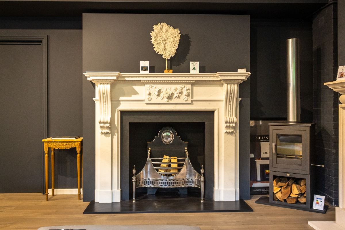 The Fireplace Company Crowborough showroom interior back room 6