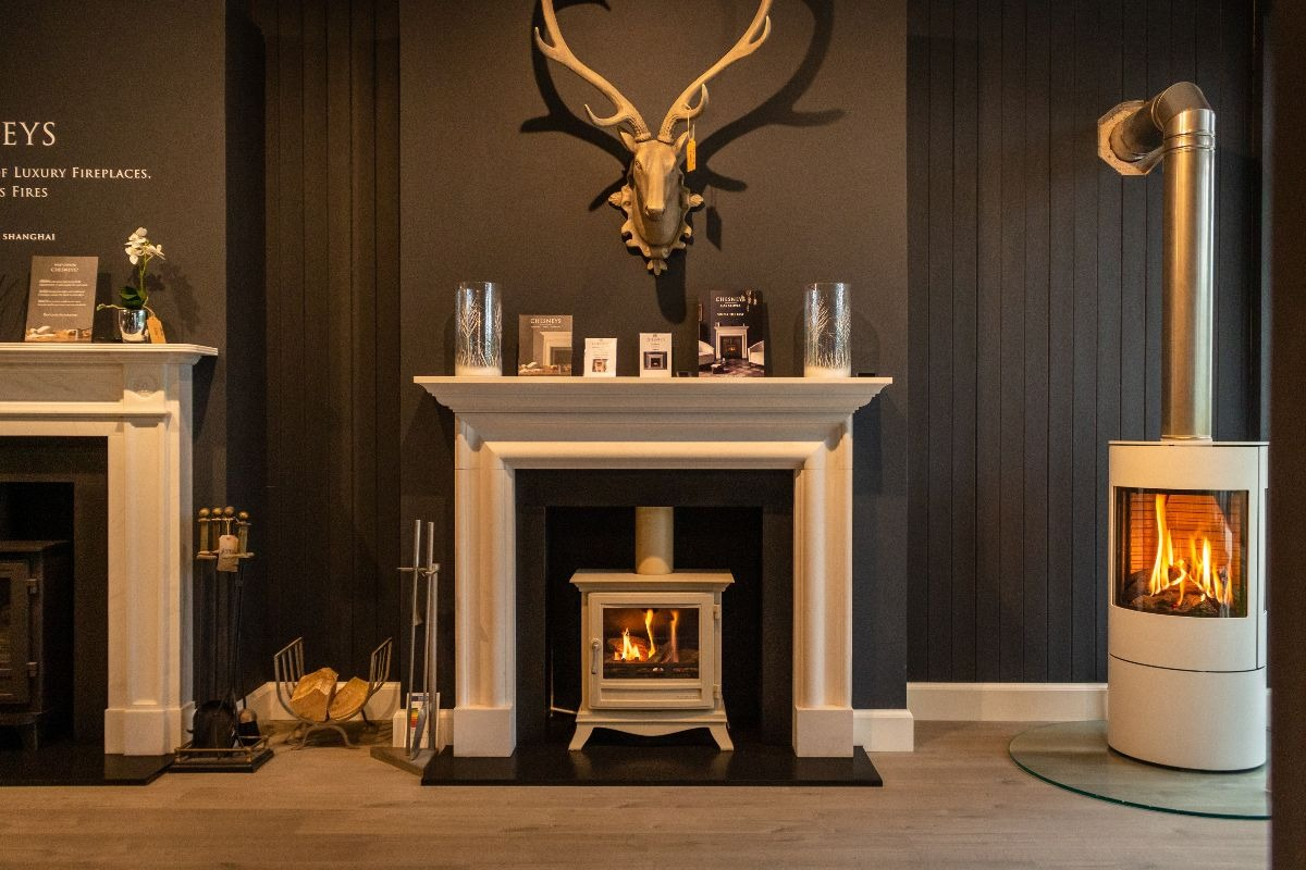 The Fireplace Company Crowborough showroom interior entrance hall 2