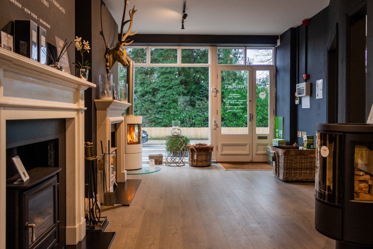 The Fireplace Company Crowborough showroom interior entrance hall 3