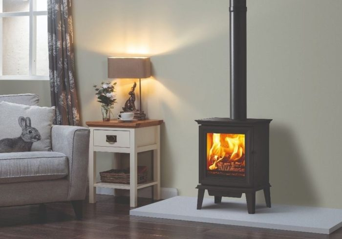 Stovax & Gazco Chesterfield 5 wood burning stove, optional long legs