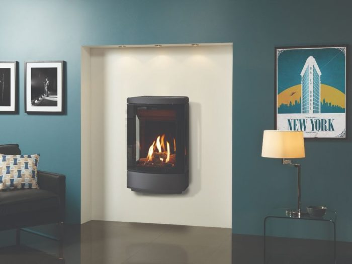 Stovax & Gazco Loft wall mounted gas stove
