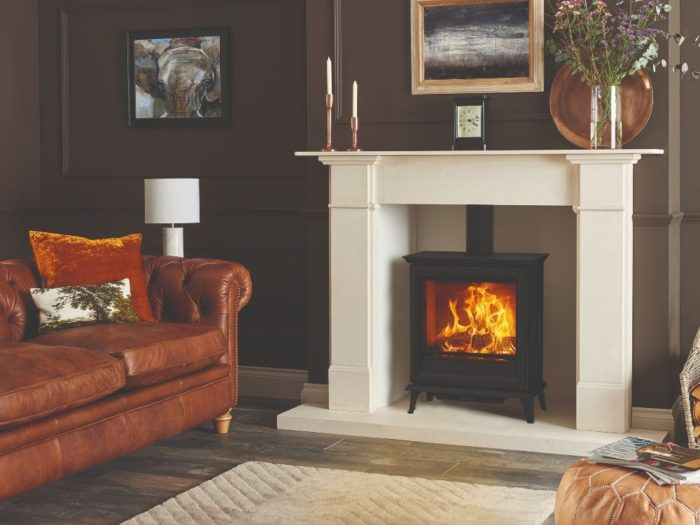 Stovax & Gazco Sheraton 5 Wide wood burning stove