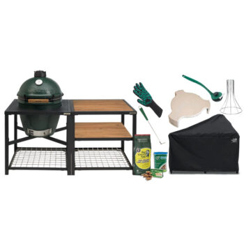 Big Green Egg Large with Acacia Modular Nest System bundle