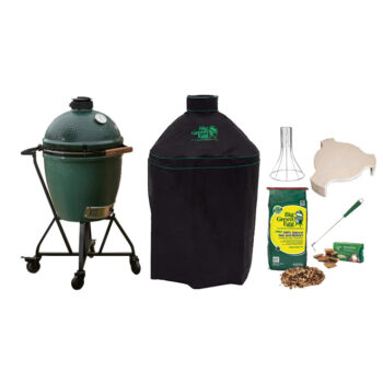 Big Green Egg Large with Metal Nest Handler bundle