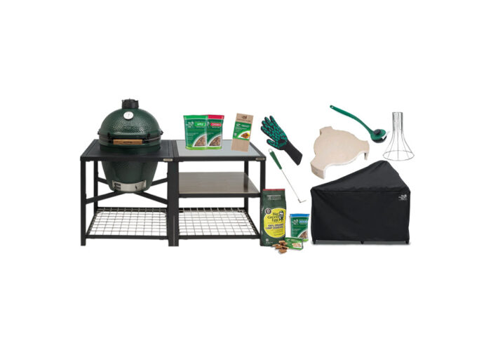 Big Green Egg Large with Stainless Steel Modular Nest System bundle