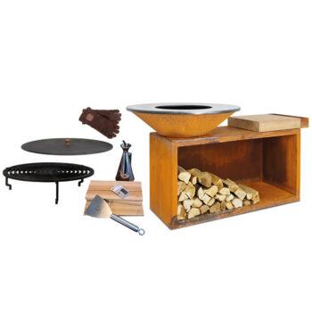 Ofyr Classic Island grill 100 wooden board bundle