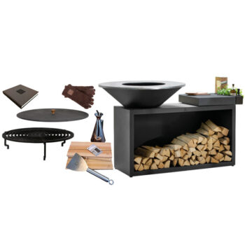 Ofyr Classic or Black Island grill 100 ceramic board bundle