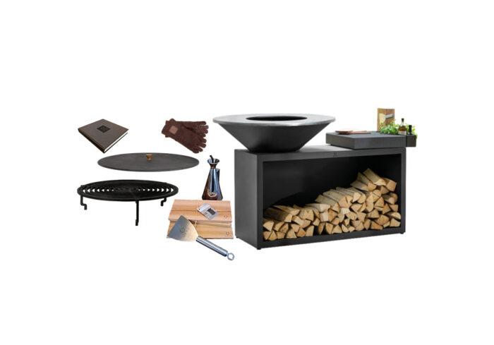 Ofyr Classic or Black Island grill 100 ceramic board bundle