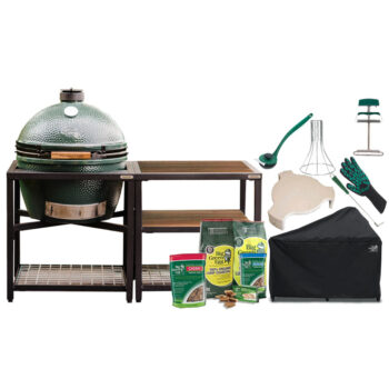 Big Green Egg Extra Large with Acacia Modular Nest System bundle