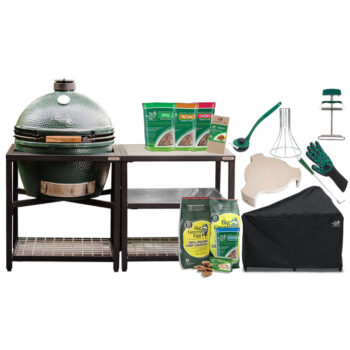 Big Green Egg Extra Large with Stainless Steel Modular Nest System bundle