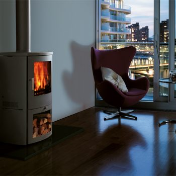 Chesneys Milan 6 series multi-fuel stove in Silver
