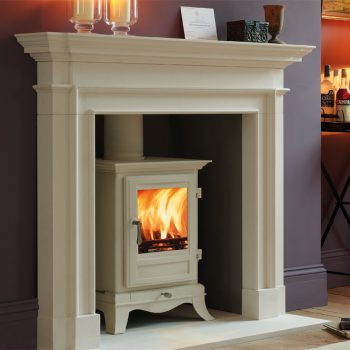 Chesneys Beaumont 6 series multi-fuel stove in Parchment