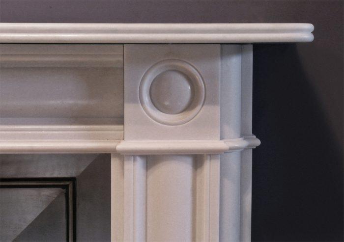 Chesneys Marble Regency Bullseye fireplace