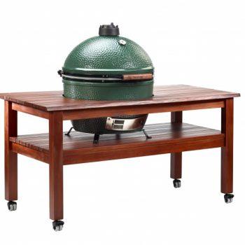 Big Green Egg Table Hardwood Multi Slat XL With Caster Wheels Main