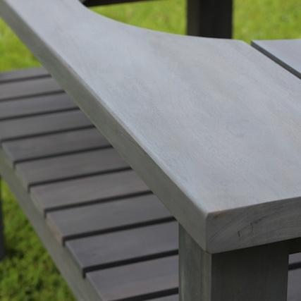 Big Green Egg Table Royal Mahogany Large Slate Grey Finish Detail 1