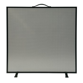 Chesneys Farringdon fire screen in coated black steel