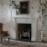 Chesneys Flitcroft fireplace with the Osterley fire basket in steel