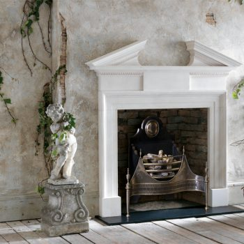 Chesneys Vanbrugh fireplace with the Croome fire basket in steel